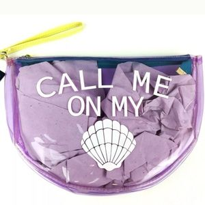 No Boundaries NWT Call Me On My Shell Clear Bag